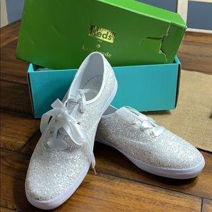 Glitter White Kate Spade Keds